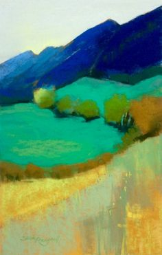 Valley green by Susie Prangnell -pastel