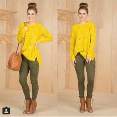 Love these colors together and apart Stylish Work Outfits, Cute Outfits For School, Casual Outfits, Winter Fashion Outfits, Fall Winter Outfits, Spring Outfits, Winter Wear, Olive Skinny Jeans, Olive Green Jeans
