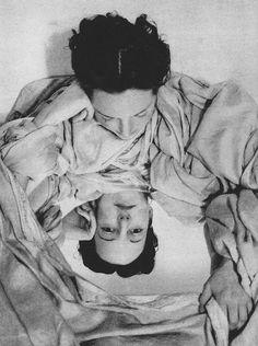 cruello: Know Thyself, Erwin Blumenfeld Coronet Magazine, December 1939 Mirror Photography, Vintage Photography, Fine Art Photography, Portrait Photography, Fashion Photography, Man Ray, Photomontage, Dada Collage, George Grosz