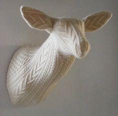 Knitted deer head