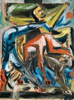"""Crucifixion"" 1940 by Jackson Pollock Gouache on paper X Pollock Paintings, Oil Paintings, Jackson Pollock Art, Lee Krasner, Gagosian Gallery, Social Art, New York Art, Art Moderne, Figure Painting"