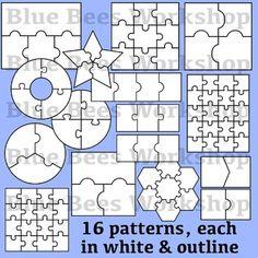 Blank Puzzle Clip Art