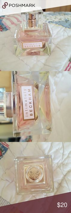 Intimately Beckham fragrance This is the Intimately Beckham 1 FL Oz fragrance. I went through this phase where I would get anything Beckham, and I used this for like a  week and then admited to myself that this wasnt the fragrance for me unfortunately. So tbis has been used but only for like a week, I'm pretty sure this fragrance is discontinued now also. This is a feminie, clean, and floral scent. Feel free to ask questions or comment! Victoria Beckham Other