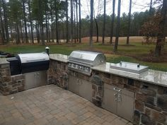 Project Complete: Traeger smoker and grill outdoor kitchen.