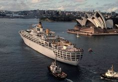 SS Oriana sails from Sydney Harbour, via Flickr.