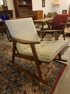Danish modern rocking chair in teak