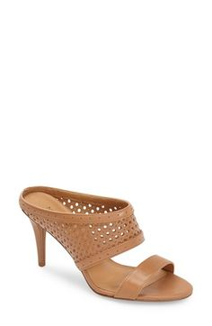 773e940d0d8e9a Nine West  Incident  Perforated Leather Slide Sandal (Women) available at   Nordstrom