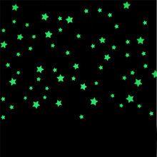 100 Pcs Quarto Dos Miudos Bonito Fluorescente Estrelas Brilham No