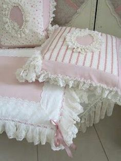 Pink shabby  pillows