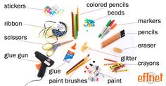 Materials and Tools for Arts and Crafts | EFLnet