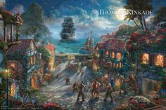 Curse of the Black Pearl by Thomas Kinkade