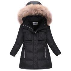 Marca Nueva Moda de Invierno de Los Niños Abajo Chaqueta Gruesa Campera de abrigo Para Las Niñas 5-12 Años Los Niños ropa de Abrigo Abrigo niñas Chaqueta de Invierno