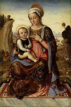 Anonimo Veneziano, Madonna con bambino fine Quattrocento #TuscanyAgriturismoGiratola