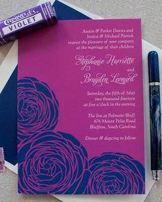 Navy-and-Purple Invitation