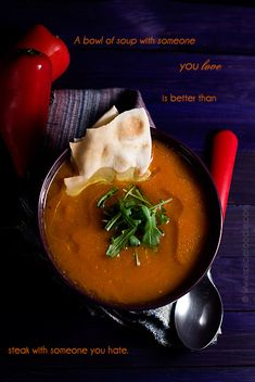 Roasted Spanish Pumpkin and Pepper Soup