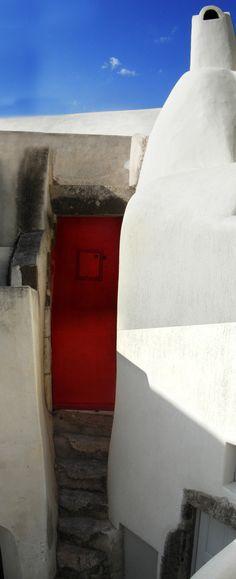 Emporio Village, Santorini, Greece. Beautiful traditional village