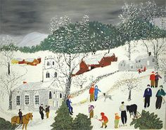 Anna Mary Robertson aka, Grandma Moses~ The Queen of Folk Art Grandma Moses, Moma, Naive Art, Christmas Art, Christmas Pictures, Vintage Christmas, Teaching Art, Famous Artists, American Artists