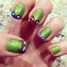 TMNT Nail Art by Milly!