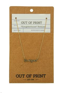 """So it Goes"" Vonnegut Necklace - Tigertree - 1"