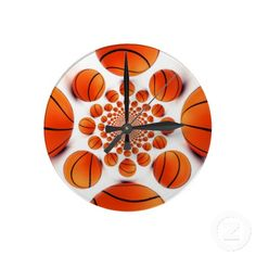 I love Basketball the #game of #champions and #time is of the essence I #love #basket #ball #clocks #Acrylic #Idea