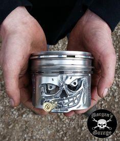 Hand Made Skull Piston from Morgan's Garage