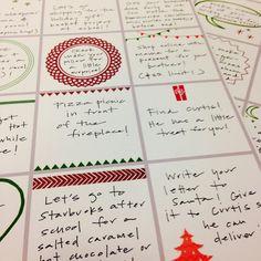 Advent Calendar Filler Ideas (and printables!)