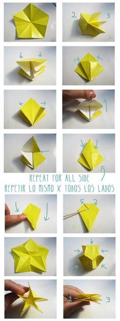 Diy crafts origami star flower step1 httpblogokatodesign okato world origamis star flower 2 of 3 mightylinksfo