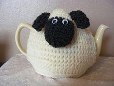 crochet sheep tea cosy