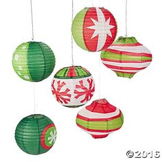 Paper Ornament Party LanternsRedGreenWhitePack of 6 * Check this awesome product by going to the link at the image. (This is an affiliate link)