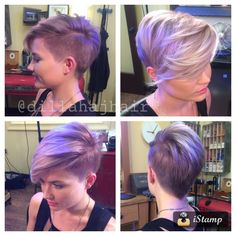 """Justin Dillaha (@dillahajhair), an independent stylist in Fort Myers, FL for the last 9 years, loves doing short hair and push the envelope in styling. """"I think barbering plays a huge role in modern day trends and I love using clipper work in my short women's haircuts while still keeping the style feminine."""" When client Chelsea requested something trendy and lavendar, but NOT permanent, Dillaha knew what to do. Here he shares:"""