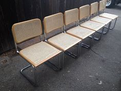 Set of 6 Vintage Cantilever Chairs  Cesca Style by CivicThrift, $450.00