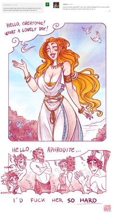 finally, aphrodite. >> Huh ? How can Artemis want to f**k her ? Artemis is and will always be virgin. Soooo I don't get it.