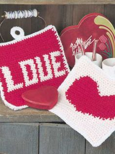 Valentine Pot Holders Pattern