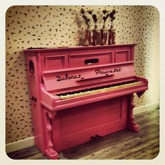 I want a pink piano! But just for fun; I still want the baby grand for voice lessons.
