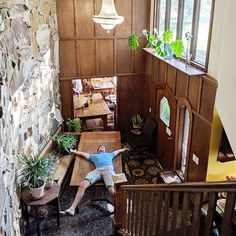Sometimes big family reunion groups rent the whole property and do a little reorganizing - like move the tables into the entryway to clear the dining room for ping-pong! We dig their style. Hops Vine, Heated Pool, Beach Town, Big Family, Lake Michigan, Trip Advisor, Vines, Entryway, Tables