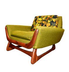 Adrian Pearsall Lounge Chair with walnut legs for Craft Associates REVOLVE MODERN MID-CENTURY MODERN FURNITURE SHOP DALLAS