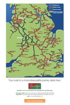 Where to cruise in your Narrow beam/Narrowboat or Widebeam Canal boat - Aqualine.