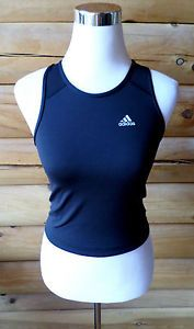 Womens Size M Adidas Climalite Athletic Top, Racerback Tank, Black, Mesh Back
