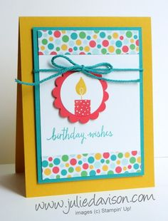 Check out my blog for more Stampin' Up! Project ideas: http://juliedavison.com