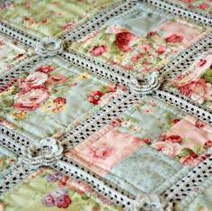 Crocheted quilt