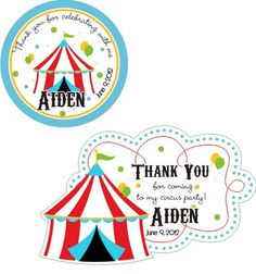 Circus Big Top Carnival Tent Personalized by customstickers, $5.75