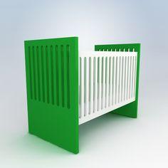 Alex Crib  heart green