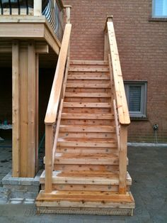 acq pressure treat pine wood deck steps with deckorators railing and