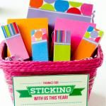 Teacher Appreciation 2013 FREE 'Sticking With Us' Printable