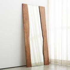 Live Edge Floor Mirror   Floor mirror, Crates and Barrels