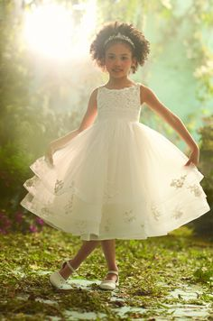 Collection 1 Disney Fairy Tale Weddings Style 704-Cinderella Blossom Girl Dress By Alfred Angelo