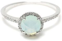 you know, I may have loved this ring just as much as the diamond I got on my wedding day.  Who says it has to cost thousands?  The Chalcedony ring. http://media-cache7.pinterest.com/upload/67061481920836208_ZrTGebZa_f.jpg danawillard wedding