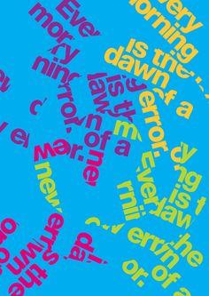 Typography that I like.