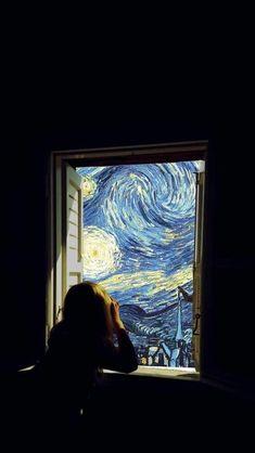 Sternennacht – Van Gogh (Lockscreen) - All About Decoration Art Inspo, Inspiration Art, Tumblr Wallpaper, Wallpaper Backgrounds, Van Gogh Wallpaper, Art Du Collage, Van Gogh Art, Photocollage, Art Hoe