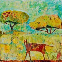 oh, what a world, what a world...:The Range, 20.5x20.5, acrylic on canvas -  jane filer